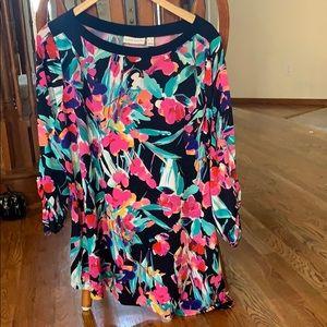 Susan Graver colorful tunic